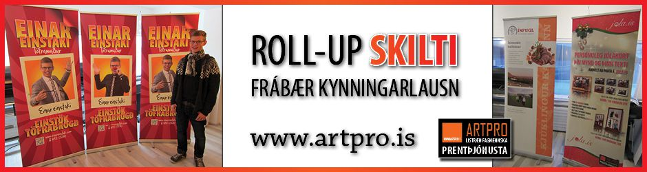 Roll-Up skilti / Rúllustandar